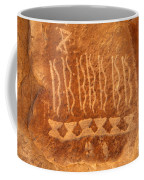 Native American Petroglyph On Orange Sandstone Coffee Mug