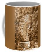 Native American Statue Copper  Coffee Mug