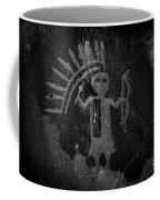 Native American Warrior Petroglyph On Sandstone Coffee Mug