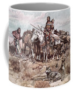 Native Americans Plains People Moving Camp Coffee Mug