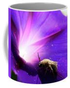 Native Bee On A Purple Flower Coffee Mug
