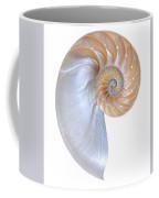 Natural Nautilus On White Vertical Coffee Mug