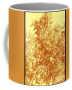 Natures Trees In Brown And Yellow Coffee Mug