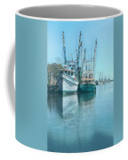 Nautical Aquas At The Harbor Coffee Mug