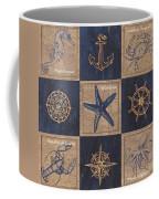 Nautical Burlap Coffee Mug