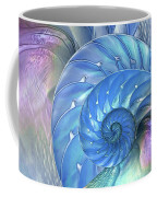 Nautilus Shells Blue And Purple Coffee Mug by Gill Billington