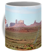 Navajo Flag At Monument Valley Coffee Mug