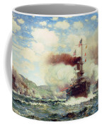 Naval Battle Explosion Coffee Mug by James Gale Tyler