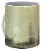 Naval Battle In Chesapeake Bay Coffee Mug by Jean Antoine Theodore Gudin