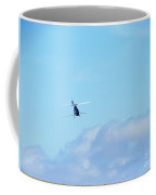 Navy Blue Steel Dragonfly Helicopter Crop Duster Coffee Mug