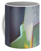 Navy Gray Green Abstract Coffee Mug