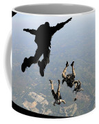 Navy Seals Jump From The Ramp Of A C-17 Coffee Mug