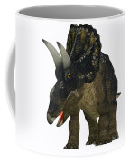 Nedoceratops On White Coffee Mug