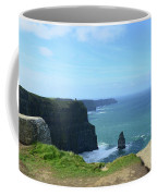 Needle Rock Formation With Blue Skies On The Cliff's Of Moher Coffee Mug