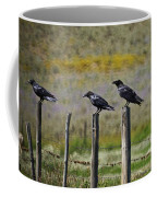 Neighborhood Watch Crows Coffee Mug