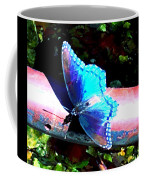 Neon Butterfly Coffee Mug