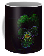 Neon Pansy Coffee Mug