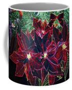 Neon Poinsettias Coffee Mug