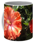 Neon-red Hibiscus Flowers 6-17 Coffee Mug