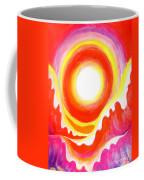Neon Red Sky And Sea Coffee Mug