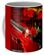 Neons Violin With Roses Coffee Mug