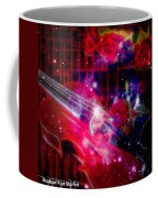 Neons Violin With Roses With Space Effect Coffee Mug
