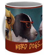 Nerd Dogs... Coffee Mug by Will Bullas