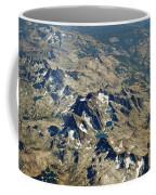 Nevada Mountain Terrain Aerial Lakes Coffee Mug