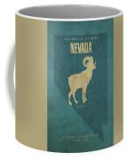 Nevada State Facts Minimalist Movie Poster Art Coffee Mug