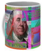 New 2009 Series Pop Art Colorized Us One Hundred Dollar Bill  No. 3 Coffee Mug