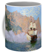 New Albion. Sir Francis Drakes Ship Coffee Mug