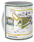 New Amsterdam Map, 1661 Coffee Mug