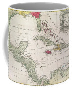 New And Accurate Map Of The West Indies Coffee Mug by American School