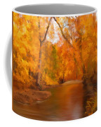 New England Autumn In The Woods Coffee Mug by Becky Herrera