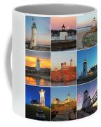 New England Lighthouse Collage Coffee Mug