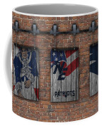 New England Patriots Brick Wall Coffee Mug