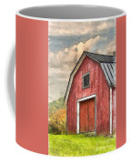New England Red Barn Pencil Coffee Mug