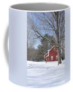 New England Red House Winter Coffee Mug