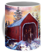 New England Winter Crossing Coffee Mug by Jack Skinner