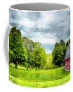New Hampshire Landscape Red Barn Etna Coffee Mug