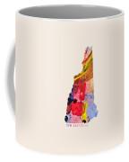 New Hampshire Map Art - Painted Map Of New Hampshire Coffee Mug