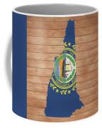 New Hampshire Rustic Map On Wood Coffee Mug