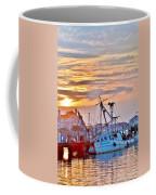 New Hope Sunrise - Sunken Ship At West Ocean City Harbor Coffee Mug