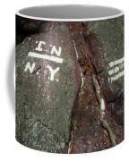 New Jersey New York State Line Of The Appalachian Trail Coffee Mug