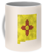 New Mexico Map Art With Flag Design Coffee Mug by World Art Prints And Designs