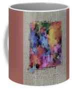 New Mexico Map Color Splatter 5 Coffee Mug