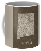New Mexico Map Music Notes 3 Coffee Mug