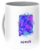 New Mexico Map Watercolor 2 Coffee Mug