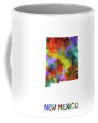 New Mexico Map Watercolor Coffee Mug