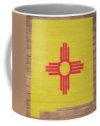 New Mexico Rustic Map On Wood Coffee Mug